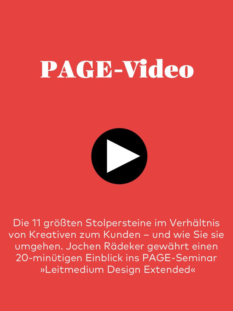 Produkt: 20-minütiges PAGE-Video mit Jochen Rädeker