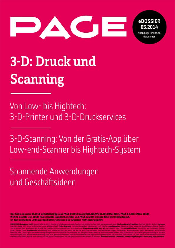 Produkt: eDossier »3D – Druck und Scanning«