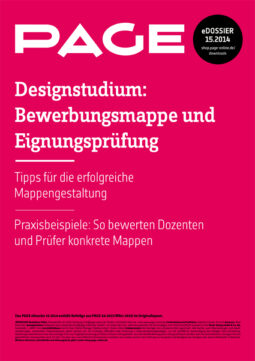 Produkt: eDossier »Designstudium – Bewerbungsmappe und Eignungsprüfung«