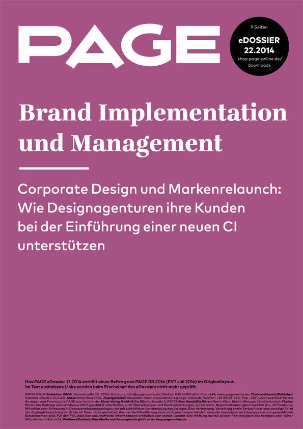 Produkt: eDossier »Brand Implementation und Management«