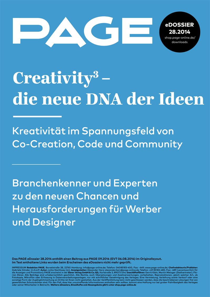 Produkt: eDossier »Creativity hoch 3 – die neue DNA der Ideen«