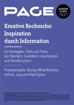 Produkt: eDossier »Kreative Recherche – Inspiration durch Information«