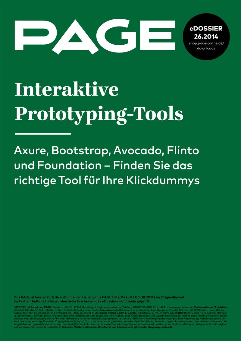Produkt: eDossier »Interaktive Prototyping-Tools«