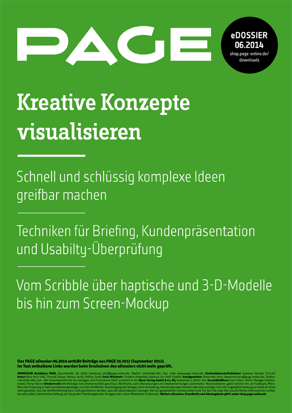 Produkt: eDossier »Kreative Konzepte visualisieren«