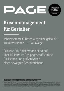 Produkt: eDossier »Krisenmanagement für Gestalter«