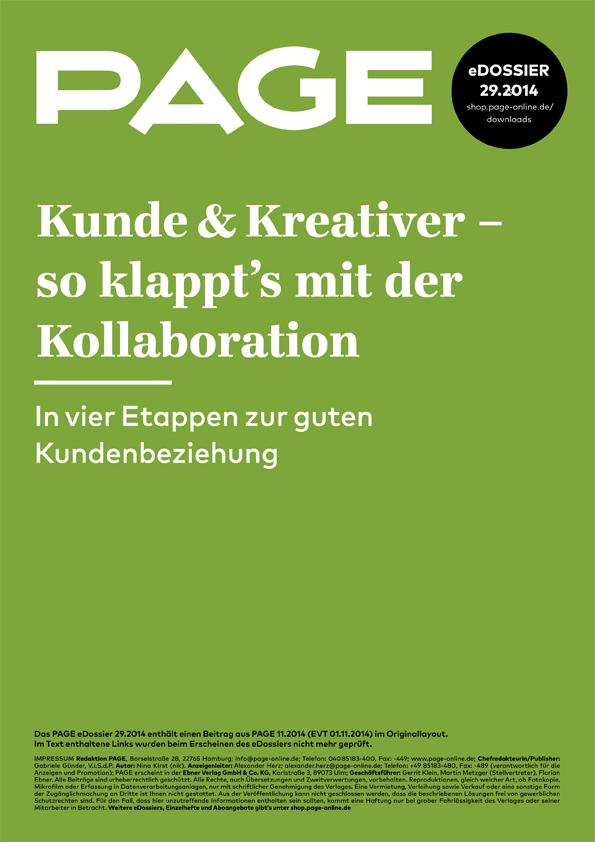 Produkt: eDossier »Kunde und Kreativer So klappt es mit der Kollaboration«