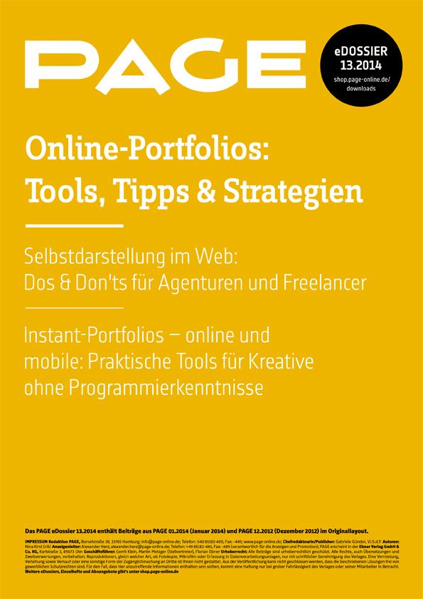 Produkt: eDossier »Online Portfolios – Tools, Tipps & Strategien«