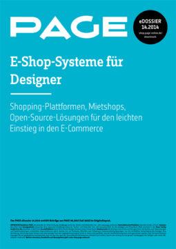 Produkt: eDossier »E-Shop-Systeme für Designer«