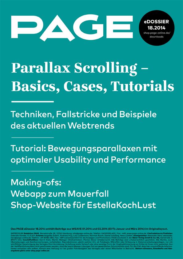Produkt: eDossier »Parallax Scrolling – Basics, Cases, Tutorials«