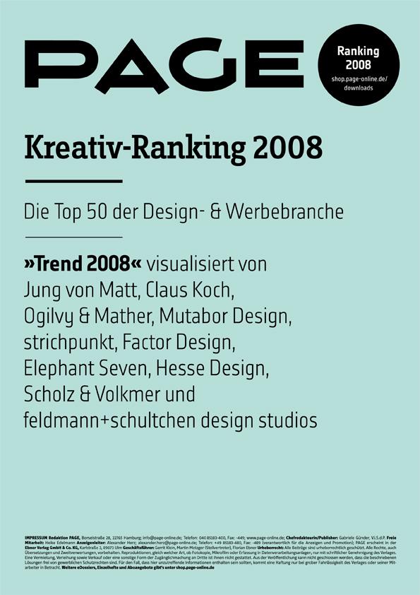 Produkt: PAGE Kreativ-Ranking 2008