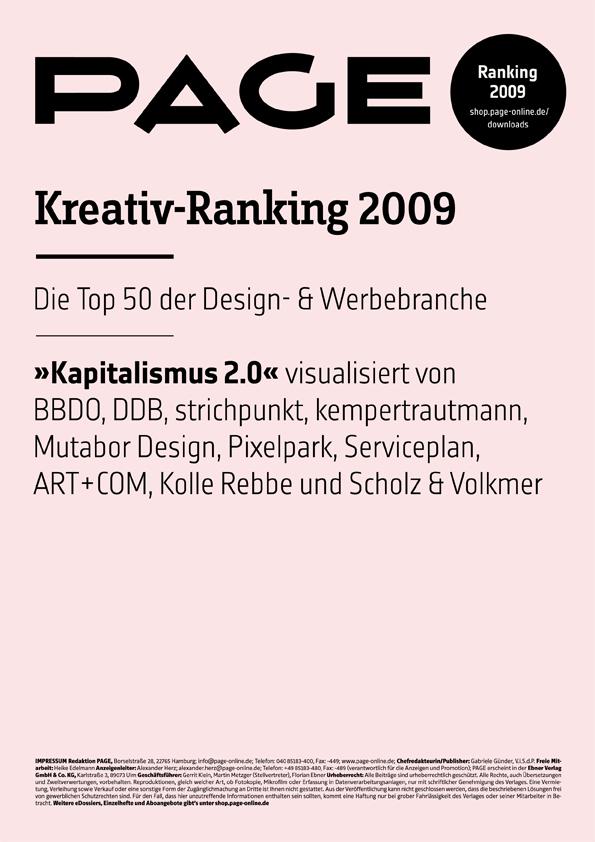 Produkt: PAGE Kreativ-Ranking 2009