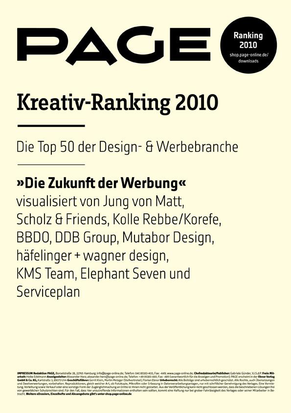 Produkt: PAGE Kreativ-Ranking 2010