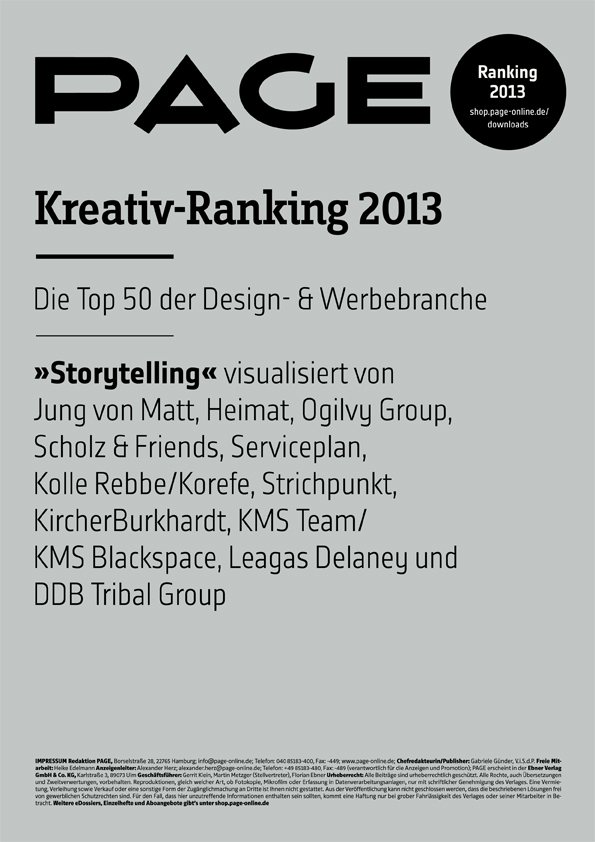 Produkt: PAGE Kreativ-Ranking 2013