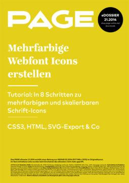 Produkt: eDossier »Mehrfarbige Webfont Icons erstellen«