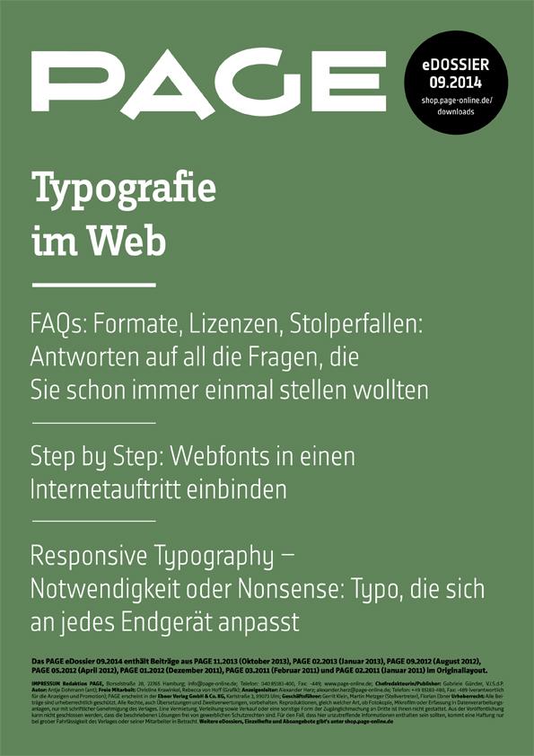 Produkt: eDossier »Typografie im Web«