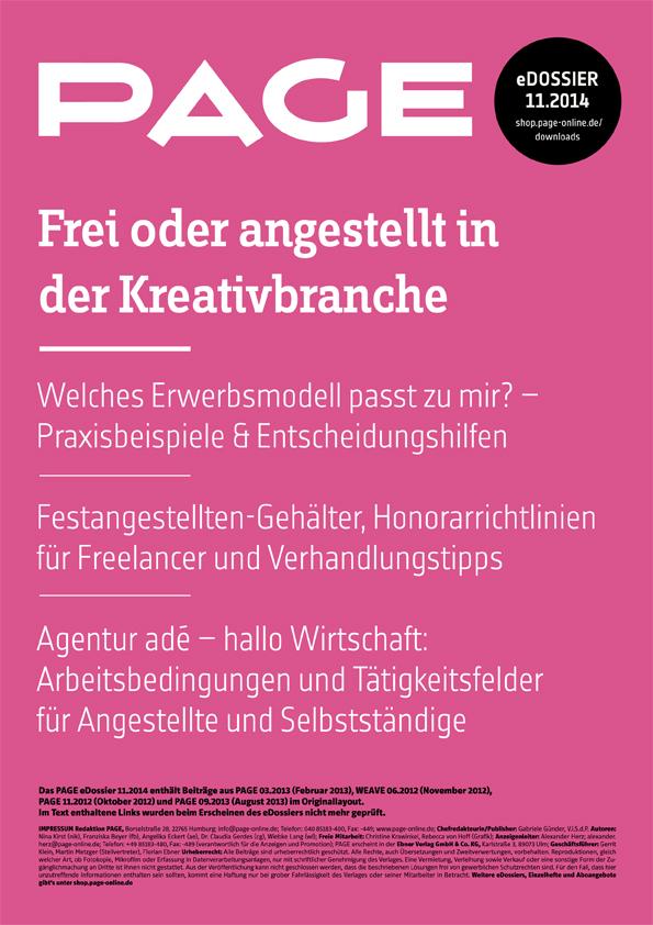 Produkt: eDossier »Frei oder angestellt in der Kreativbranche«