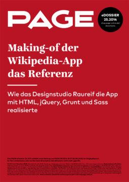 Produkt: eDossier »Making-of der Wikipedia-App das Referenz«