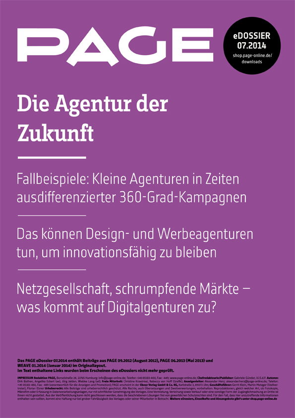 Produkt: eDossier »Die Agentur der Zukunft«