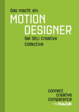 Produkt: Sonderheft Das macht ein Motion Designer bei Deli Creative Collective