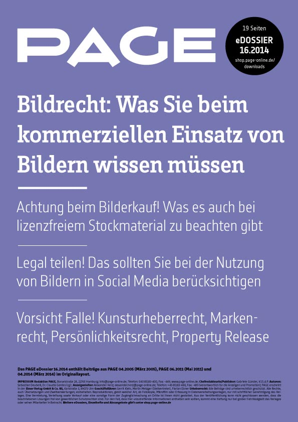 Produkt: eDossier »Bildrecht – kommerzieller Einsatz von Bildern«