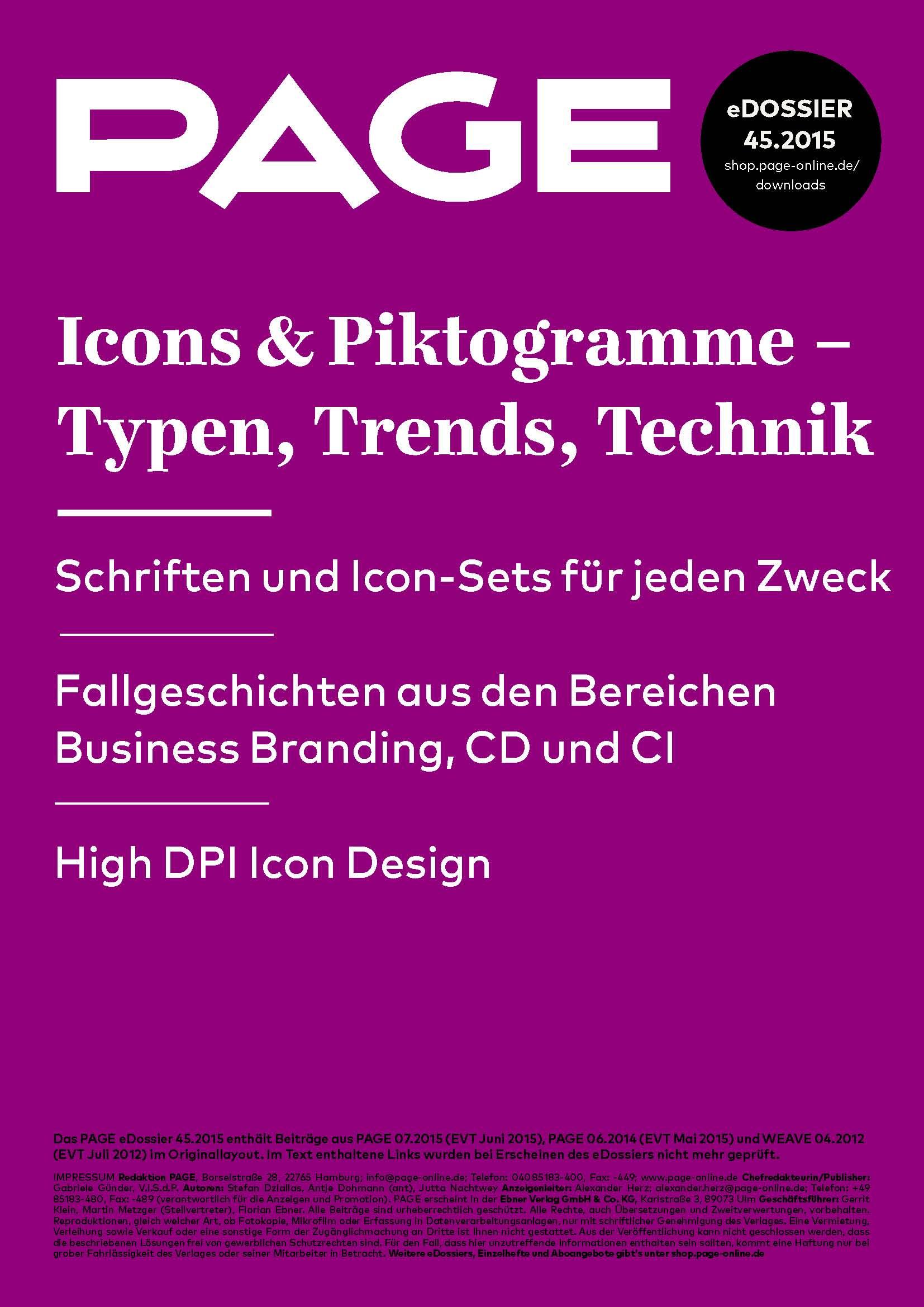 Produkt: eDossier »Icons & Piktogramme – Typen, Trends, Technik«