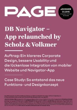 Produkt: eDossier »DB Navigator – App relaunched by Scholz & Volkmer«
