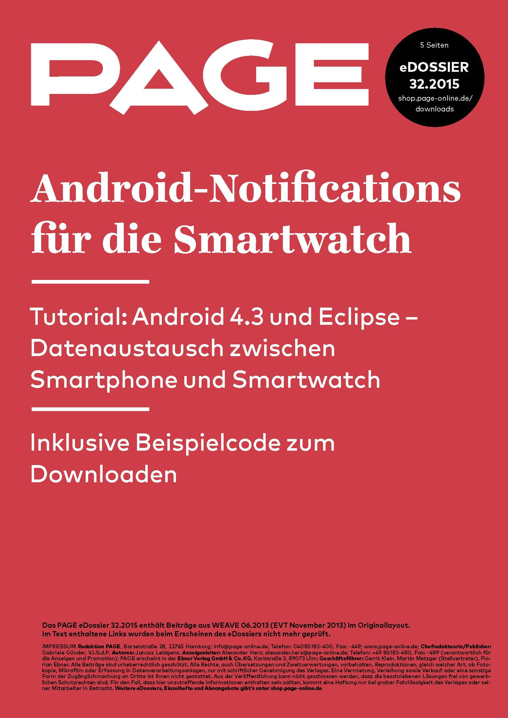 Produkt: eDossier »Android-Notifications«