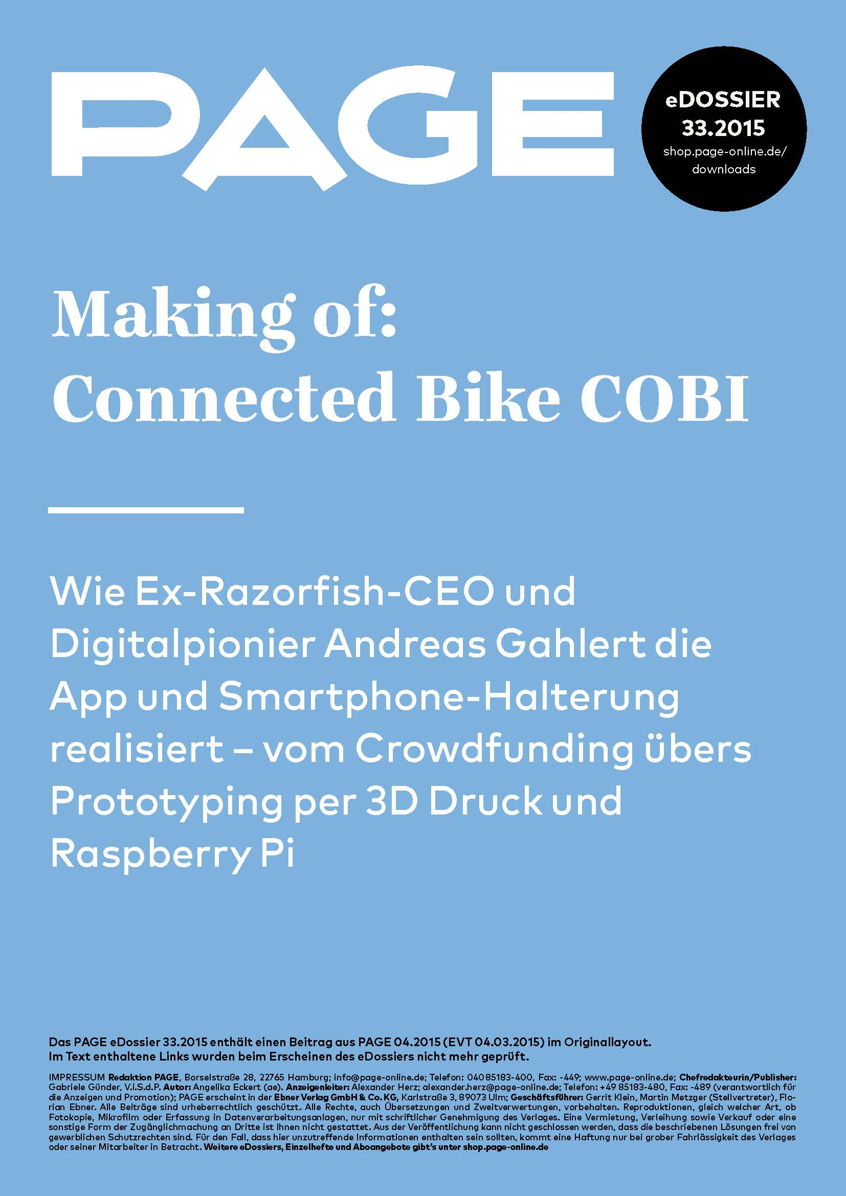Produkt: eDossier: »COBI Bike«
