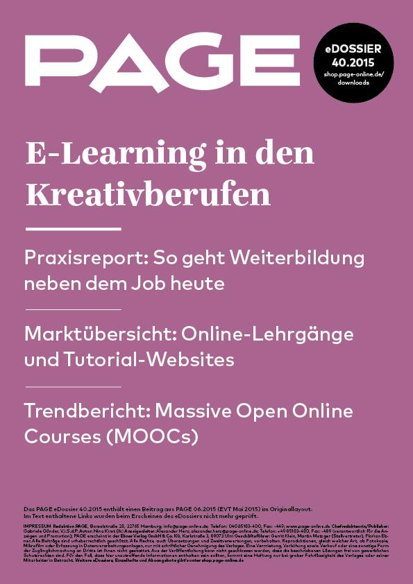 Produkt: eDossier: »E-Learning in den Kreativberufen«