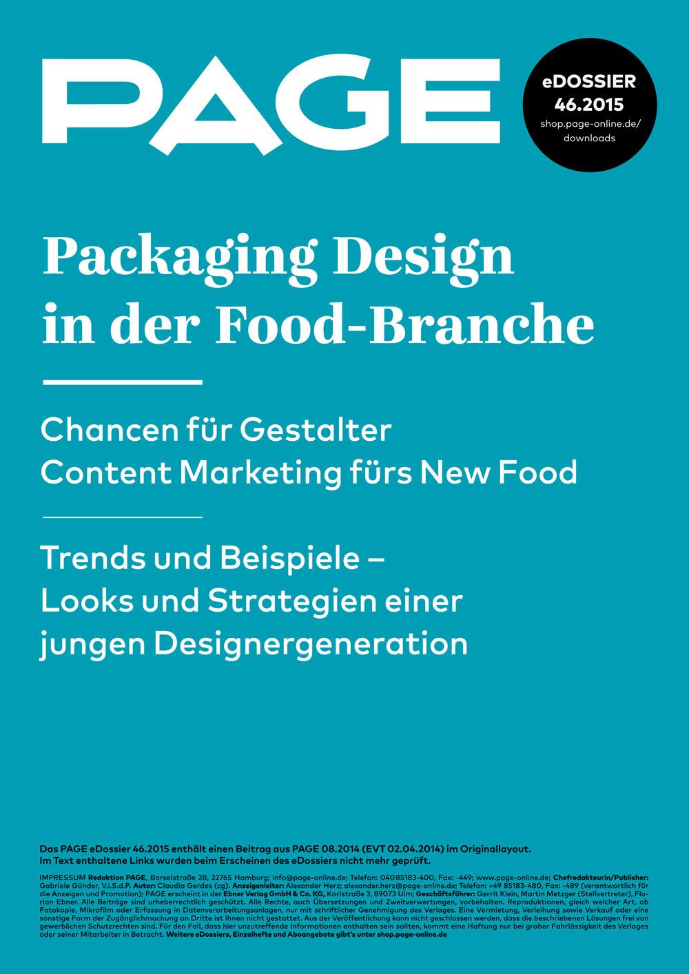 Produkt: eDossier: »Packaging Design in der Food-Branche«