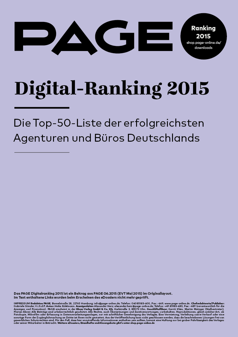 Produkt: eDossier: »PAGE Digital Ranking 2015«
