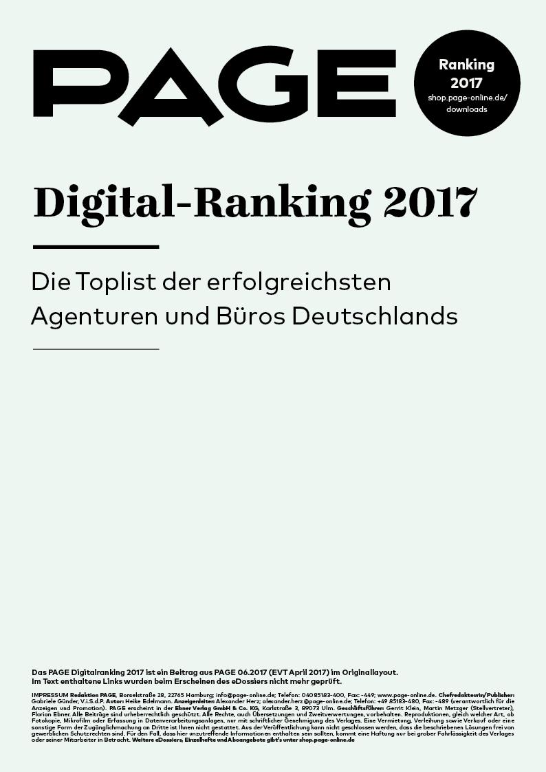 Produkt: eDossier: »PAGE Digital-Ranking 2017«