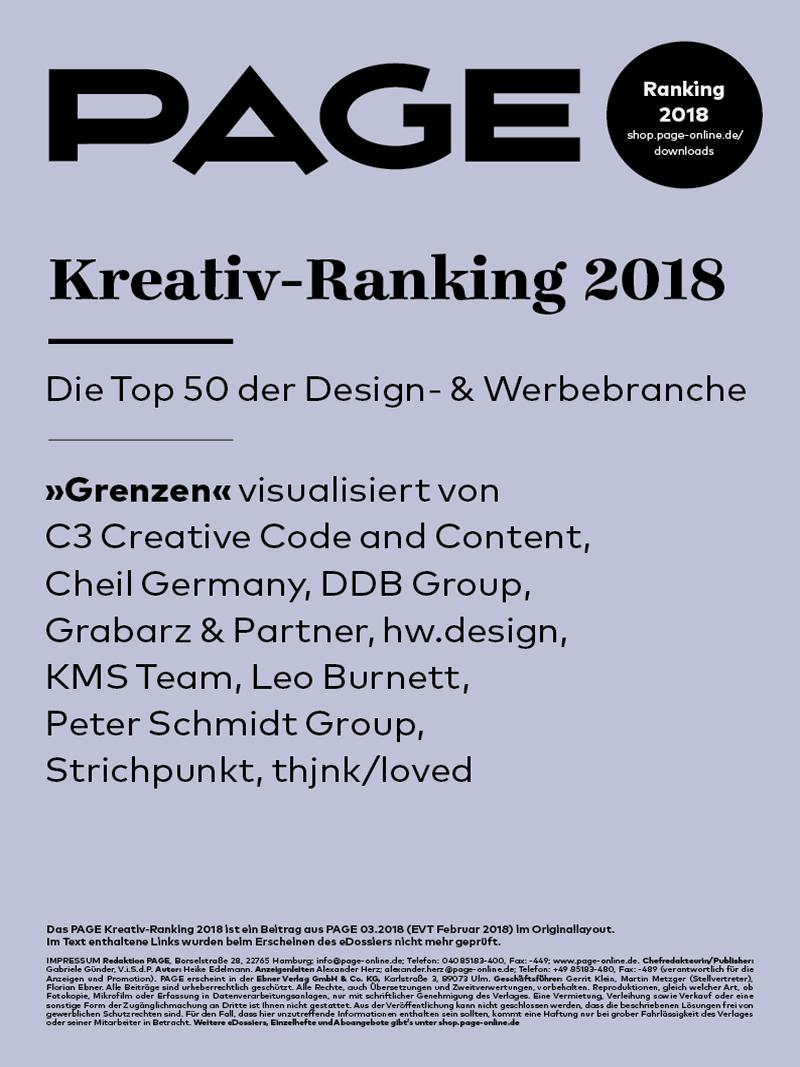 Produkt: PAGE Kreativ-Ranking 2018