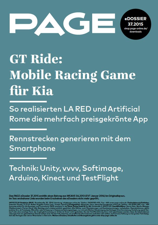Produkt: eDossier »GT Ride: Mobile Racing Game für Kia«