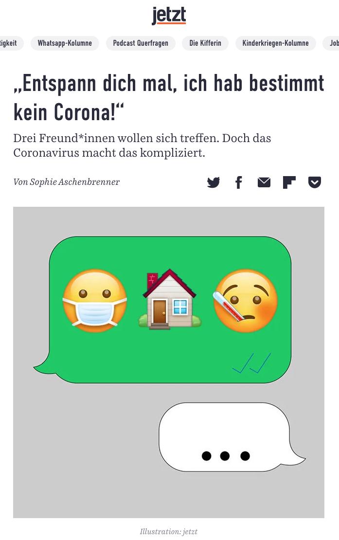 Corona Virus virale Illustration