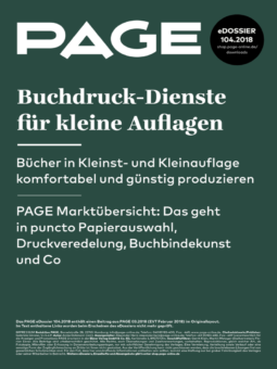 Produkt: eDossier »Buchdruck-Dienste für kleine Auflagen«