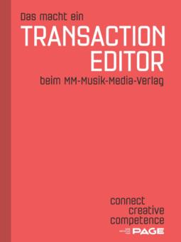 Produkt: Das macht ein Transaction Editor beim MM-Musik-Media-Verlag
