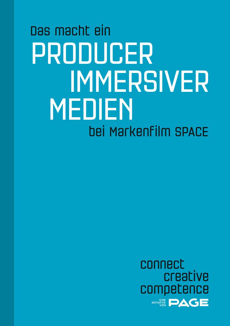 Produkt: Booklet »Das macht ein Producer immersiver Medien bei Markenfilm SPACE«