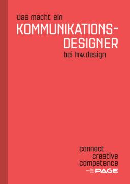 Produkt: Booklet »Das macht ein Kommunikationsdesigner bei hw.design«