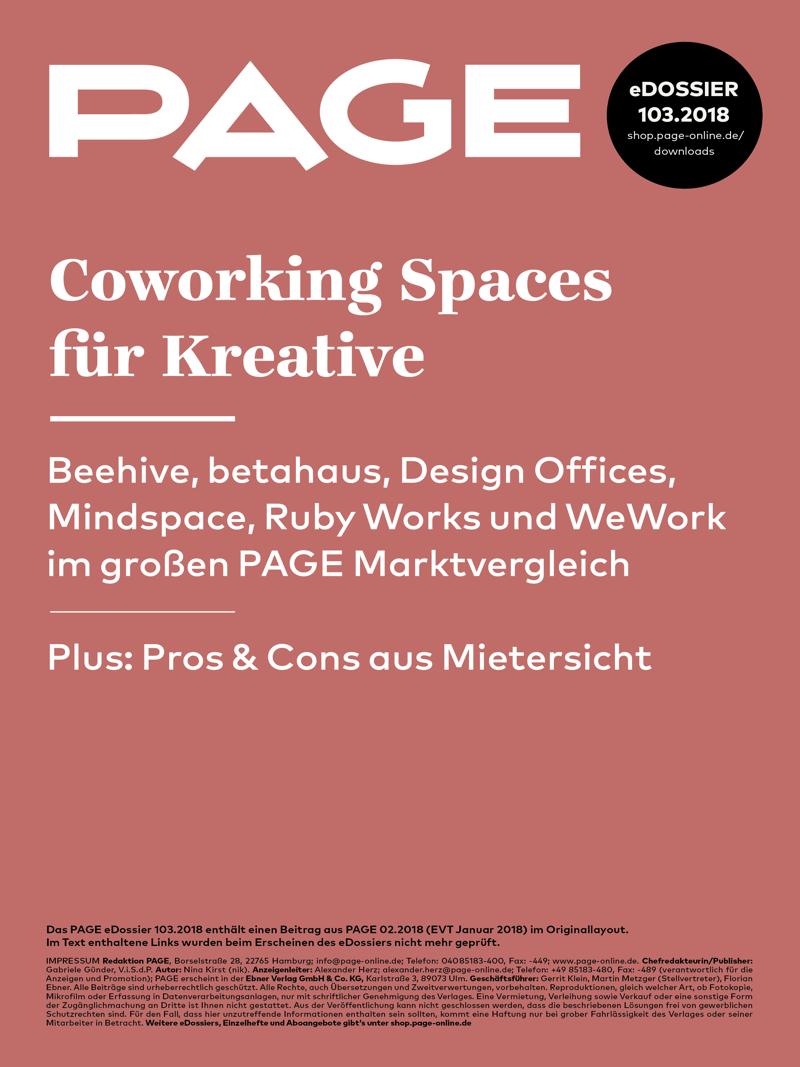 Produkt: eDossier »Coworking Spaces für Kreative«