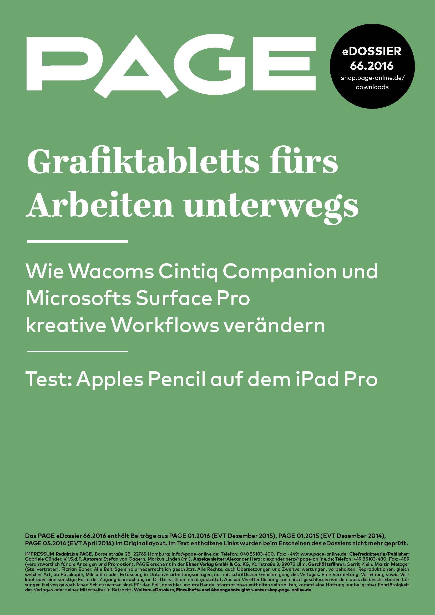 Produkt: eDossier: »Grafiktabletts fürs Arbeiten unterwegs«