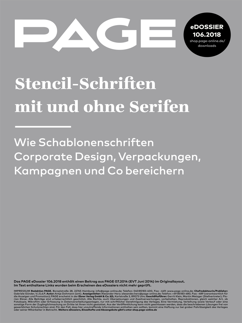 Produkt: eDossier: »Stencil-Schriften«