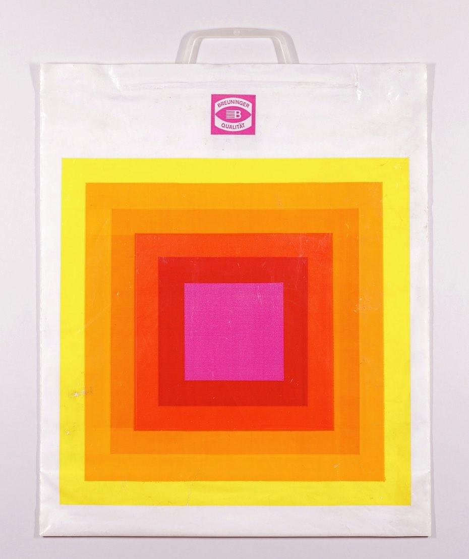 Abstrakte Kunst auf Plastiktüten