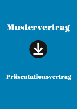 Produkt: Mustervertrag: Präsentationsvertrag