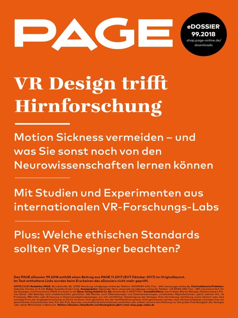 Produkt: eDossier »VR Design trifft Hirnforschung«
