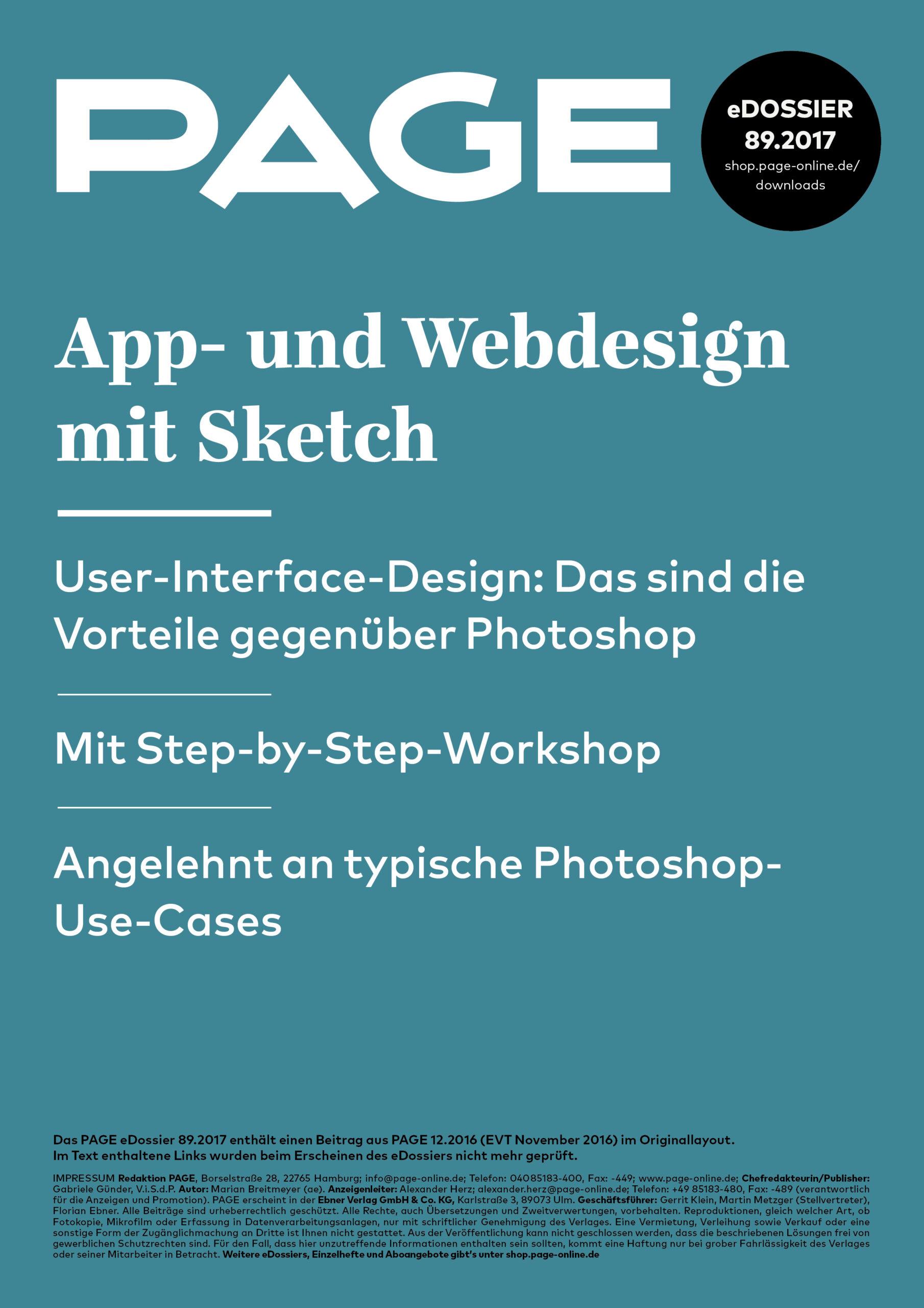 Produkt: eDossier »App- und Webdesign mit Sketch«