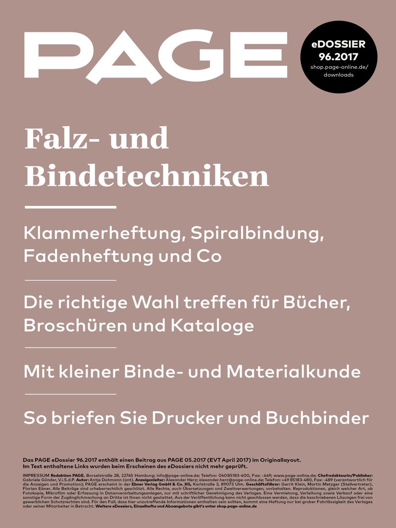 Produkt: eDossier »Falz- und Bindetechniken«