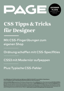 Produkt: eDossier: »CSS Tipps & Tricks für Designer«