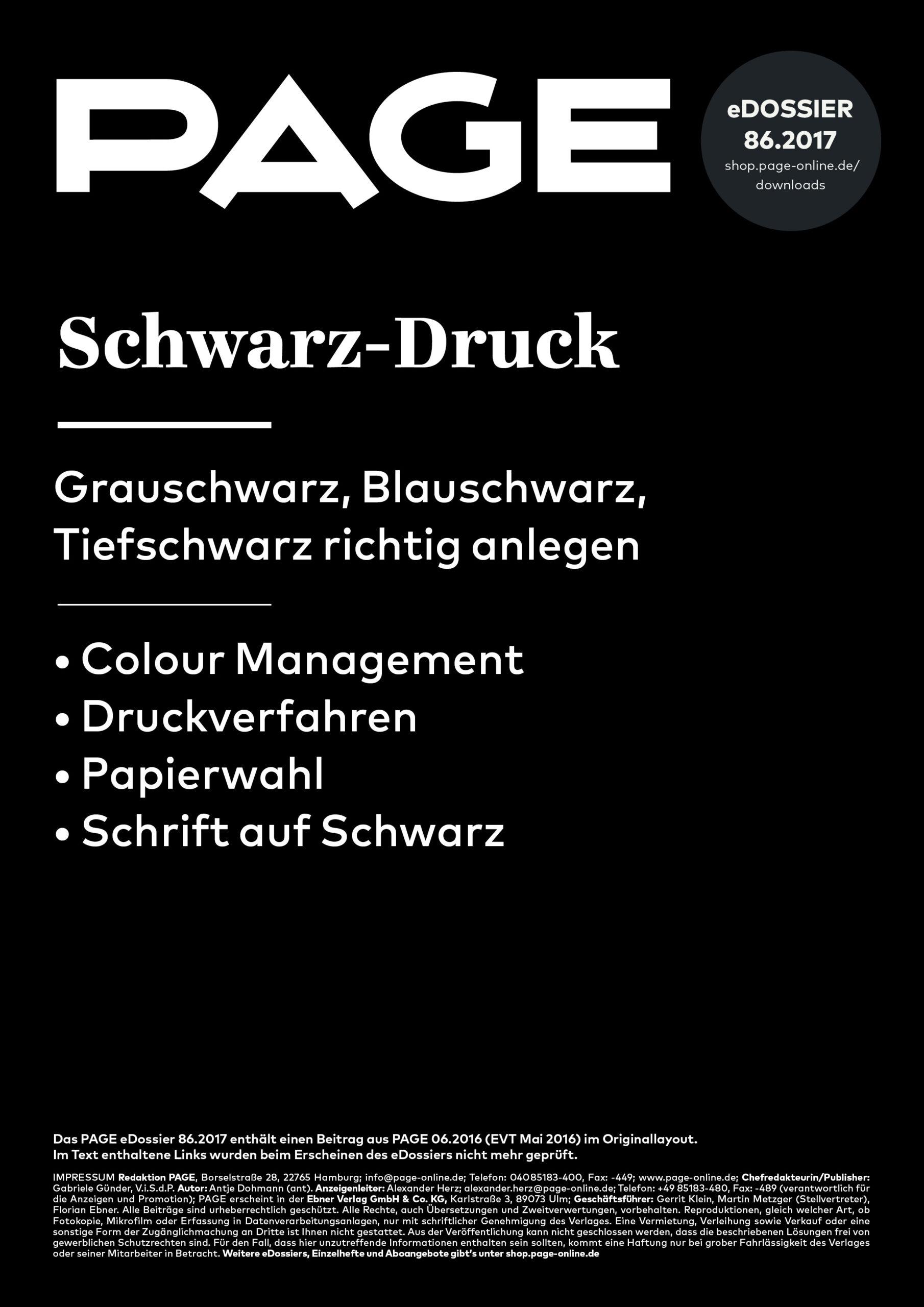 Produkt: eDossier »Schwarz-Druck«