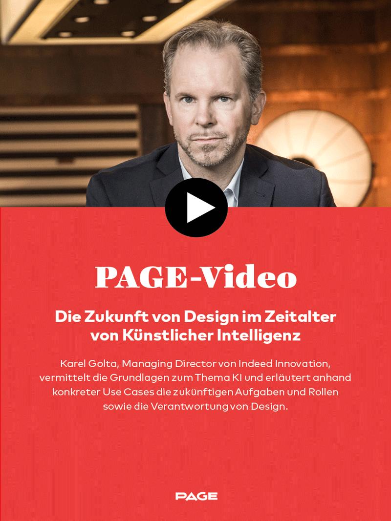 Produkt: PAGE-Webinar: »Die Zukunft von Design im Zeitalter von Künstlicher Intelligenz«